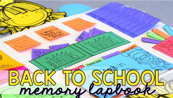 back to school memory lapbook blog post header