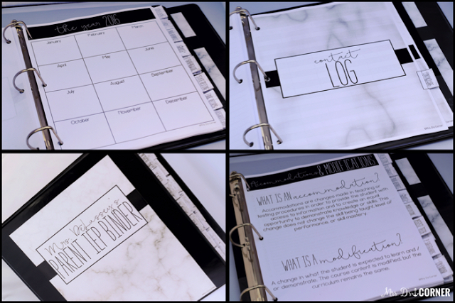 A Parent IEP Toolkit binder system is great to help parents keep track of all of their child's IEP paperwork.