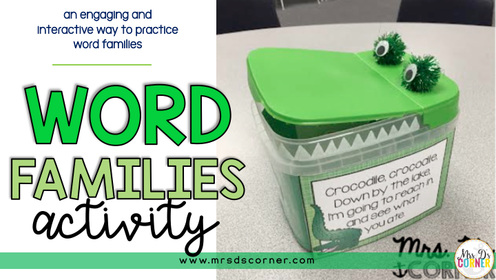 Crocodile, Crocodile… A Word Families Activity