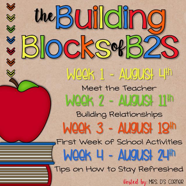 Building Blocks – Week 3 – First Week Activities