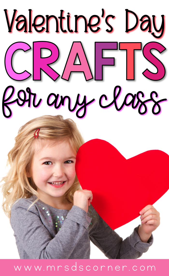27 Valentine's day Crafts that are great for any classroom. 27 Valentine's Crafts for Any Kid. Valentine crafts that are fun and great fine motor activities for students in special education. Blog post at Mrs. D's Corner.