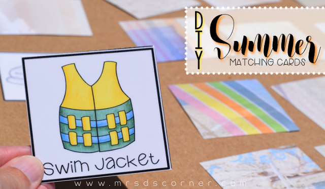 DIY Summer Match Card Game (with a FREEBIE)