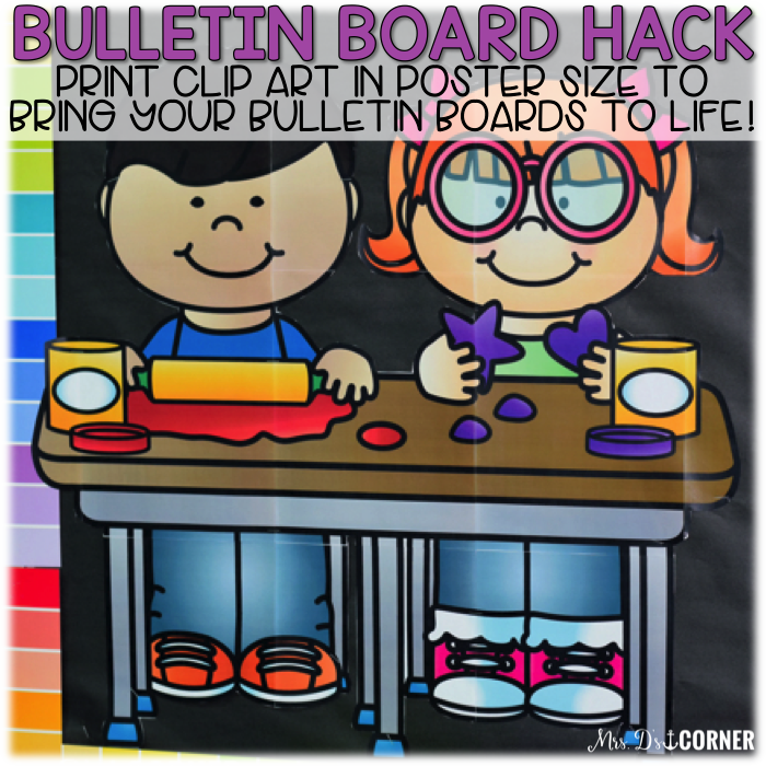 Print clip art in poster size to bring bulletin boards to life.
