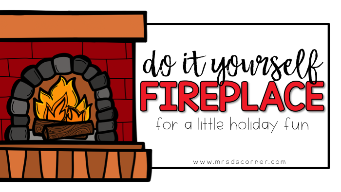 Do it yourself fire place for easy, holiday fun.