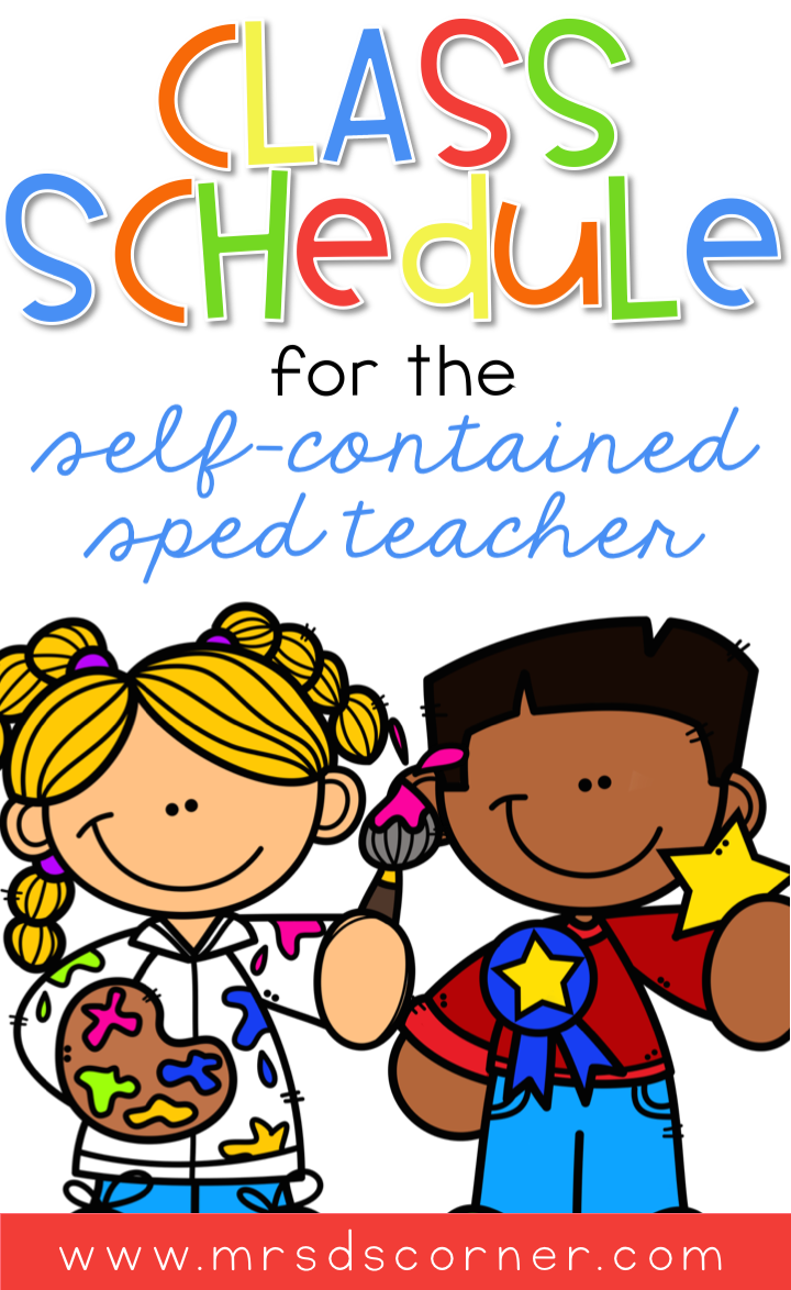 Wondering how to fit everything into your schedule in a self contained special needs classroom? I'm sharing my self contained class schedule and specifics on what each part of our school day looks like. Blog post at Mrs. D's Corner.