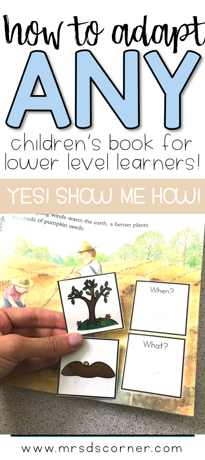 Pin Image to Learn How to create an adapted book out of any children's book