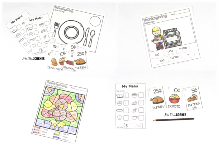 5 free thanksgiving center rotations for a classroom party