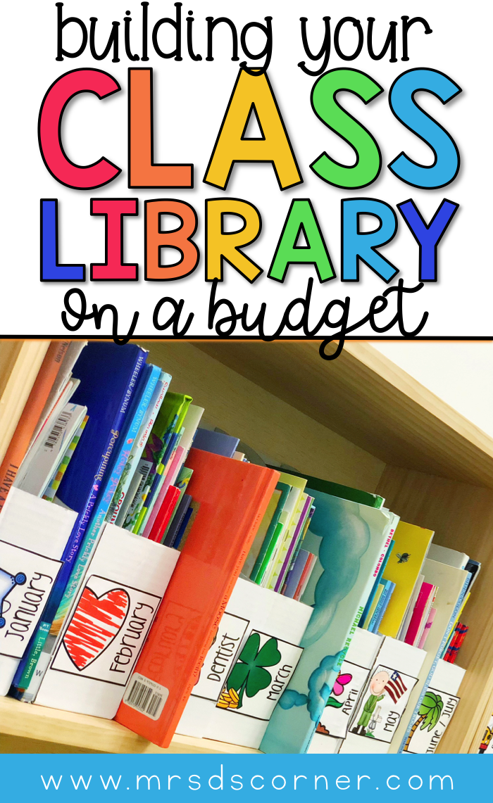 Build your classroom library on a budget. Tips for how to build your classroom library on a budget and where to find inexpensive cheap books for your classroom. 12 places to find cheap books for the classroom. Blog post at Mrs. D's Corner.