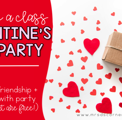 Hosting a Classroom Friendship Valentine's Day Party in your special education classroom. FREE center rotations and ideas for a classroom valentine friendship party. Blog post at Mrs. D's Corner.