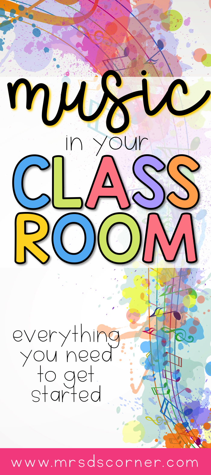 Using music in the classroom for transitions, sensory integration, and more. The supplies you need to get started, when to use music in the classroom, why you should be using music in the classroom, and other ideas for incorporating music in the classroom. Blog post at Mrs. D's Corner.