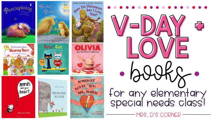 25 valentine's day books about friendship and love, perfect read alouds for any classroom. Collection of 25 Valentine's Day books that are perfect for any classroom. Includes books on love, friendship, and loving yourself, with new titles and the classics you already enjoy. See the titles now at Mrs. D's Corner. Blog post at Mrs. D's Corner.