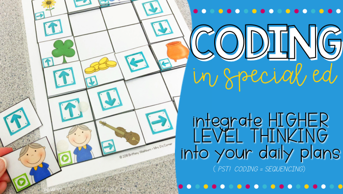 Coding and STEM in a special education class, planned and differentiated for you... making the entire unit easy. The only thing you need to do is facilitate the learning and higher level thinking. The teacher guide walks YOU, the teacher, through everything in simple words so that coding is not overwhelming, and so you are easily able to introduce how to code to your special needs students. Guided Coding Stories are all about combining stories and coding together in an easy, understandable way.