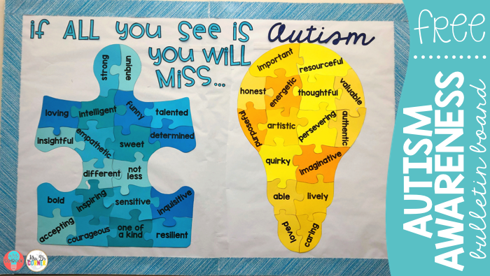 Autism Awareness Bulletin Board Display