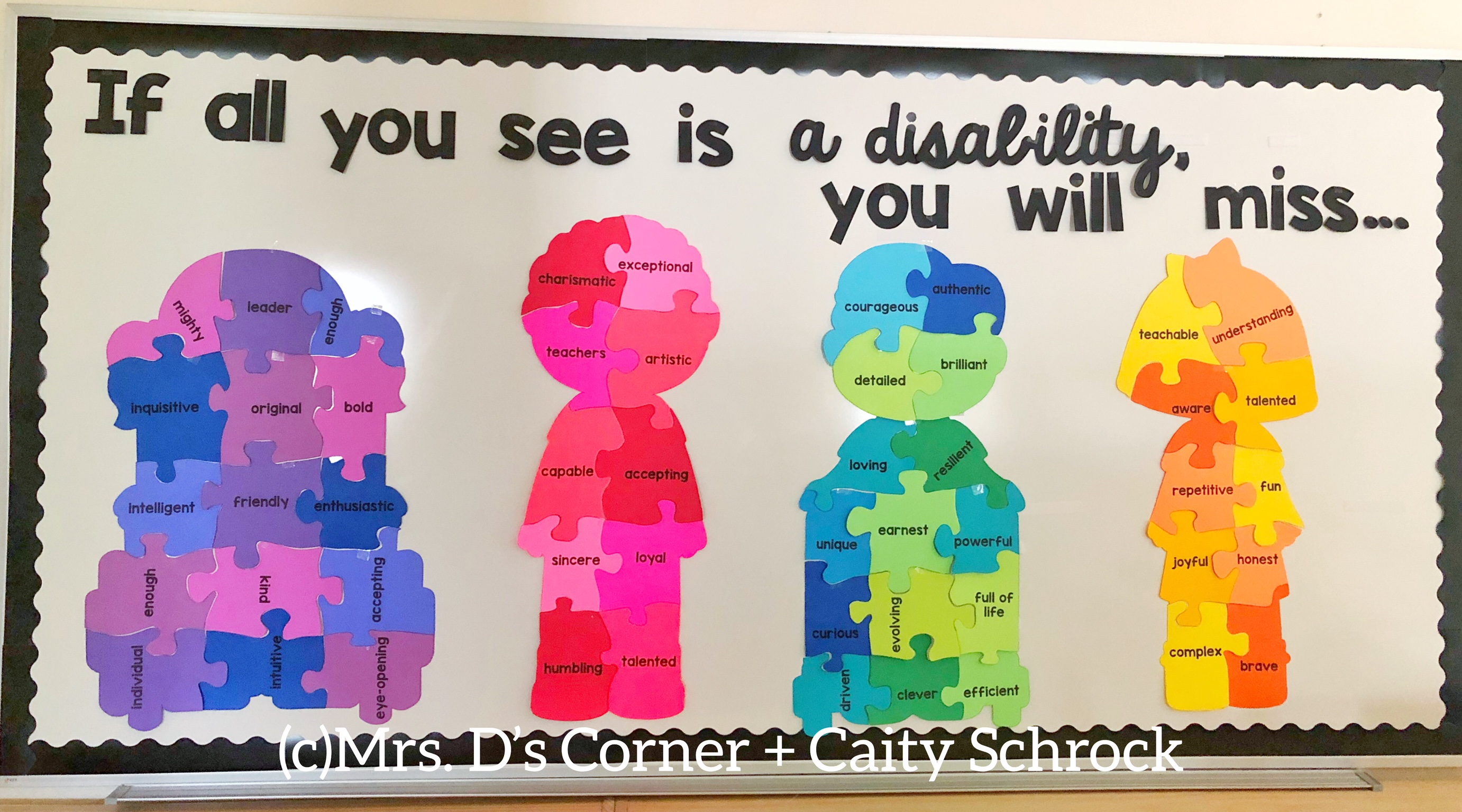 october is disability awareness month. disability and differences awareness bulletin board. autism awareness and autism acceptance poster display. free download.