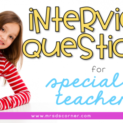interview questions for special education teachers to prepare for an interview