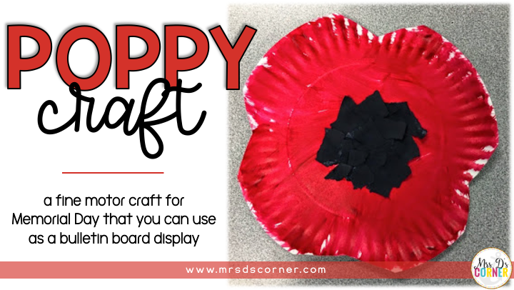 Poppy Craft for Memorial Day