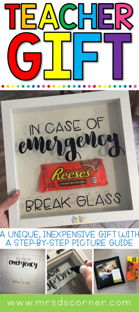 A simple, inexpensive teacher gift or para gift that you can make for your child's teacher to show appreciation. Step by step how to at Mrs. D's Corner.