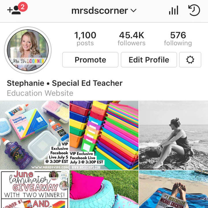 follow teachers on instagram and follow hashtags