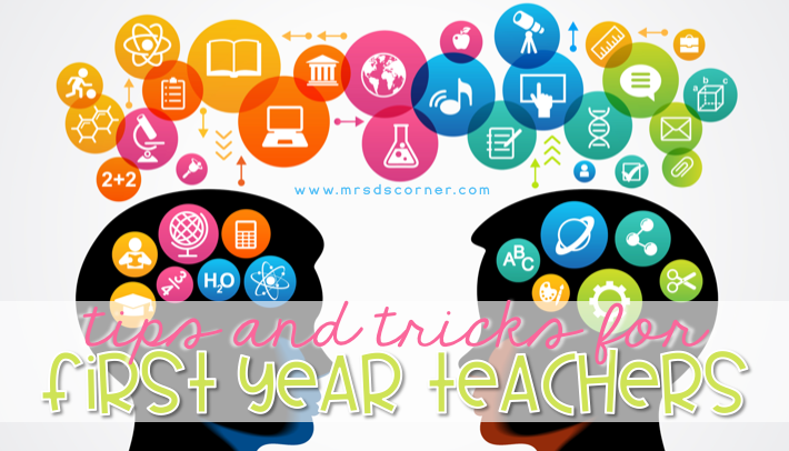 First year teacher tips and tricks header