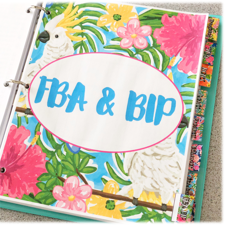 IEP caseload management binder includes divider tabs for everything you'll need to keep your IEP caseload organized., including FBA and BIPs with data collection sheets.