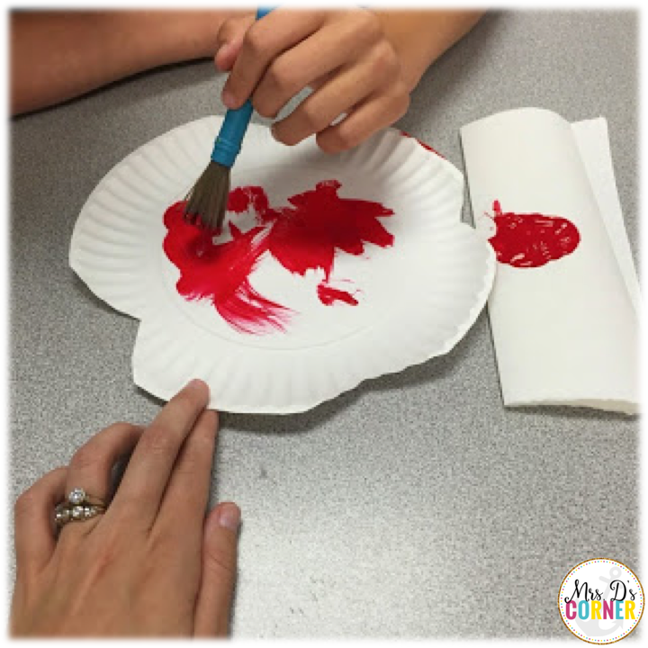 poppy craft - let the students paint the paper plates