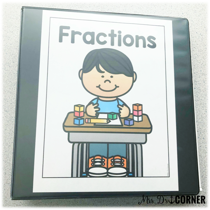 • Number + Operations – Fractions Equivalent Fractions Compare Express Whole #s as Fractions math assessment