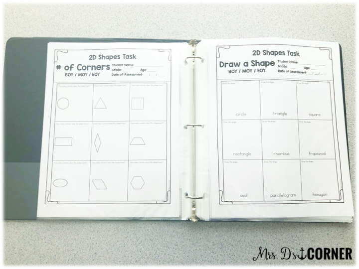 • Geometry Shapes + Their Attributes Partition Shapes into Equals (2, 3, 4 parts) math assessments