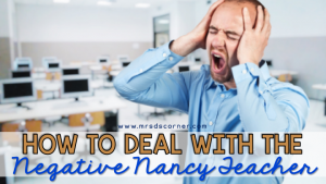 how to deal with a negative teacher blog header