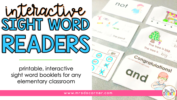 Printable, Interactive Sight Word Books for Special Ed