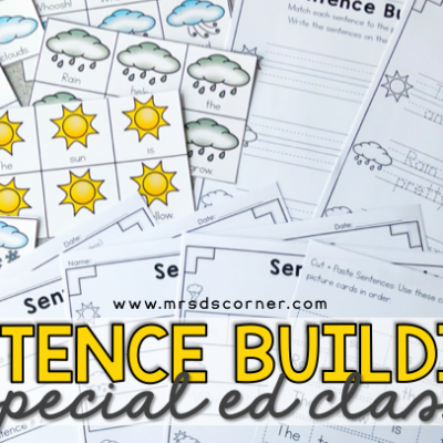 Sentence Building in special education classrooms blog header