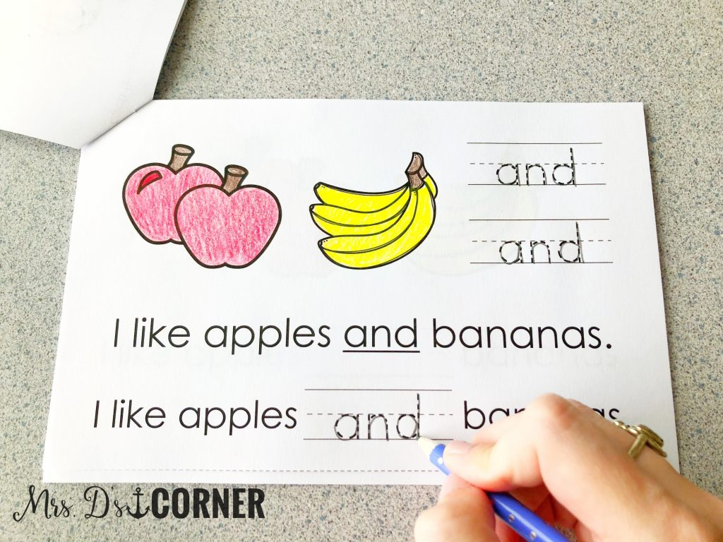 Dolch sight word reader and freebie on TpT. Sight Word Book Bundle at Mrs. D's Corner